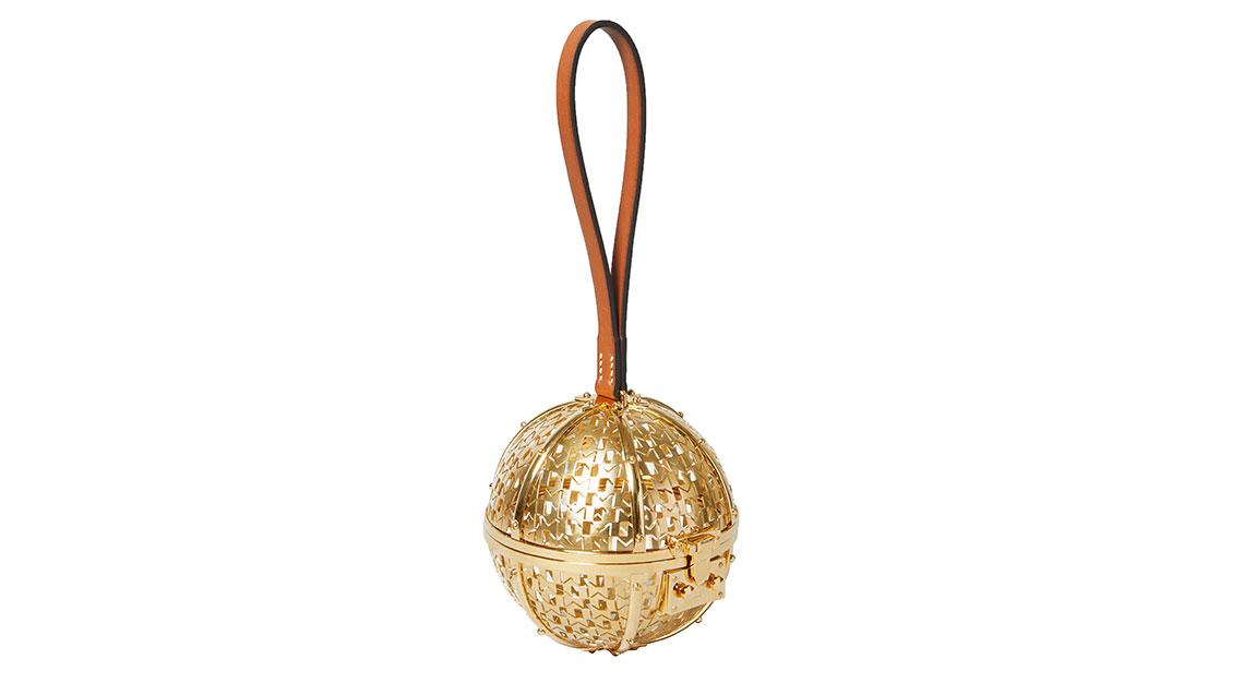 Moynat gold Minaudiere Sphere clutch bag