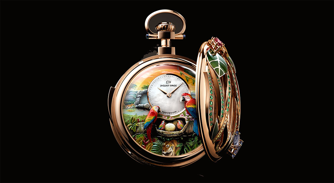 Parrot Repeater Pocket Watch by Jaquet Droz