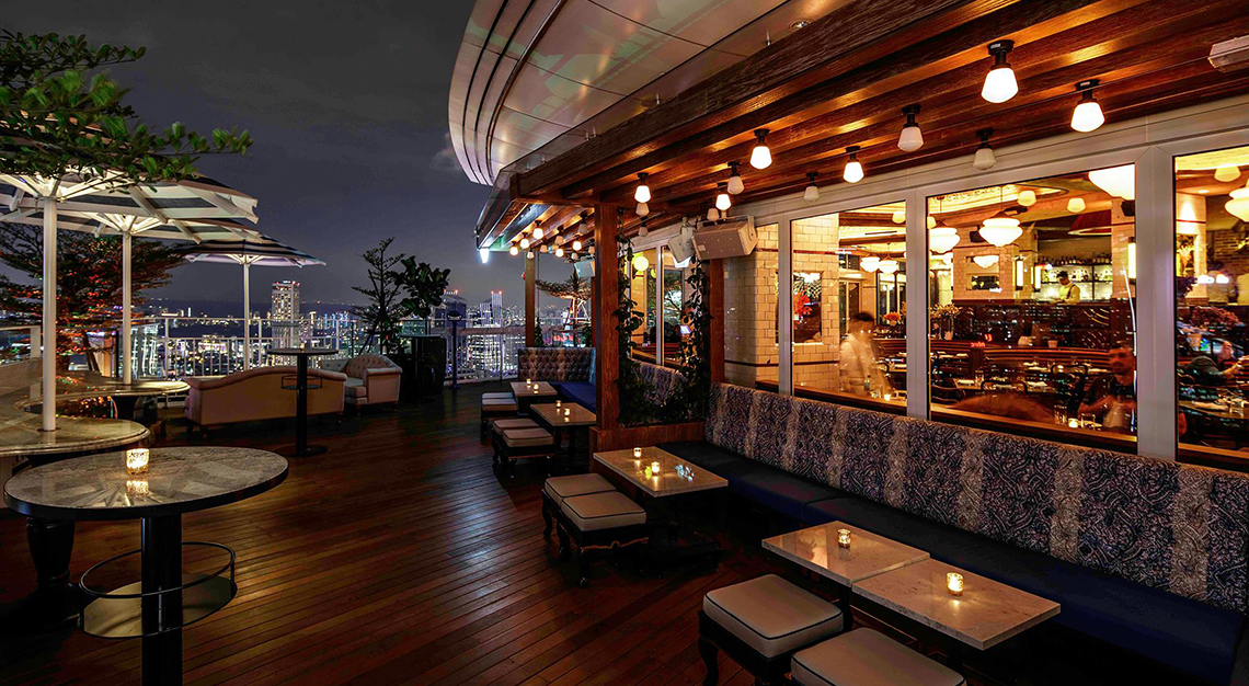 Restaurants in Singapore with a view - Lavo Italian Restaurant & Rooftop Bar