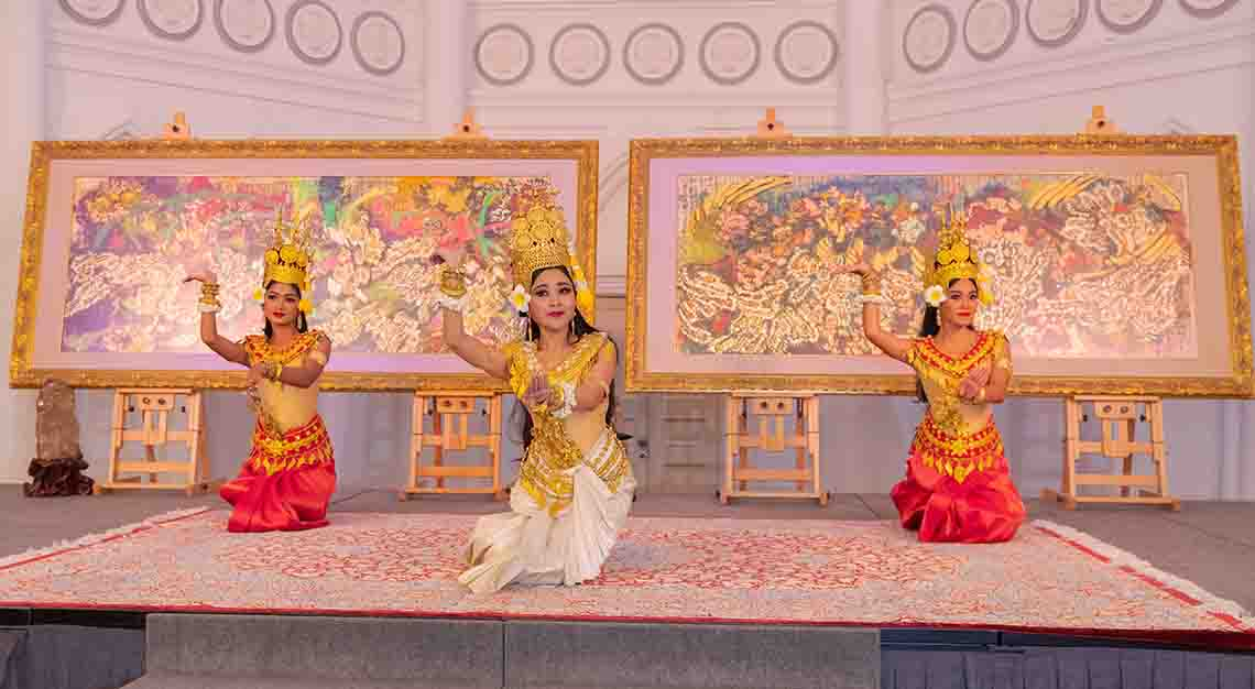 Apsara dance performance, Lotus On Water exhibition