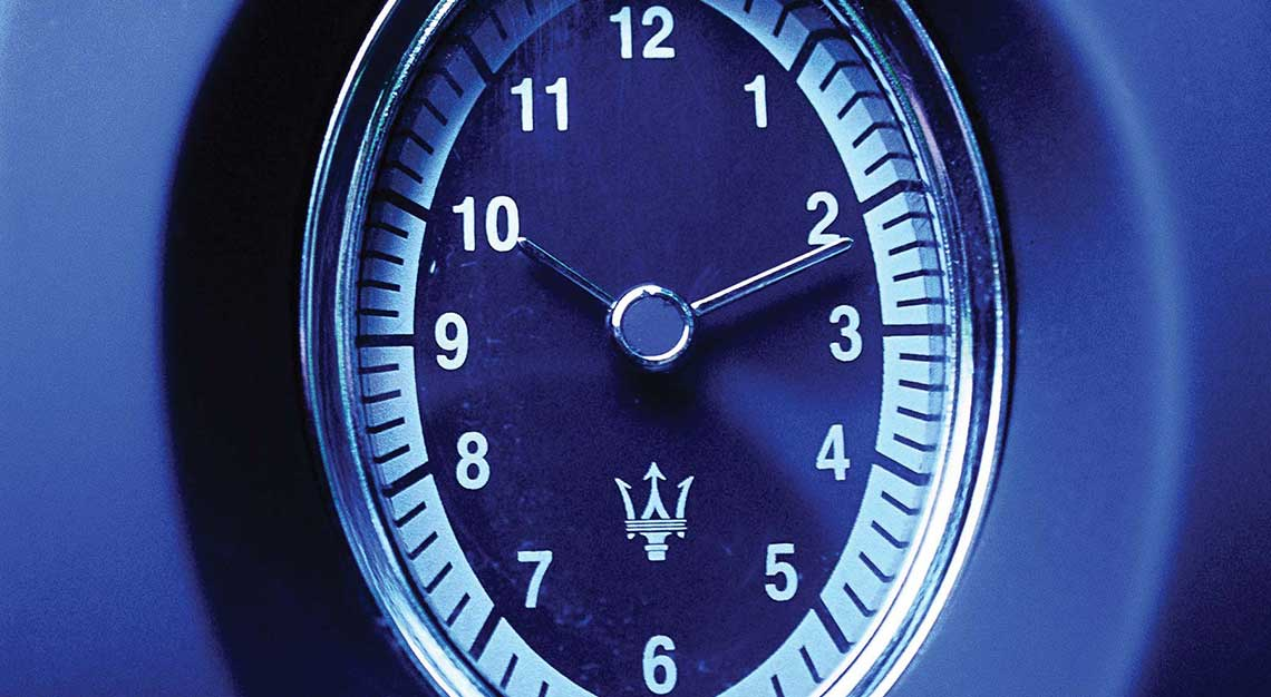 Best dashboard clocks - Maserati