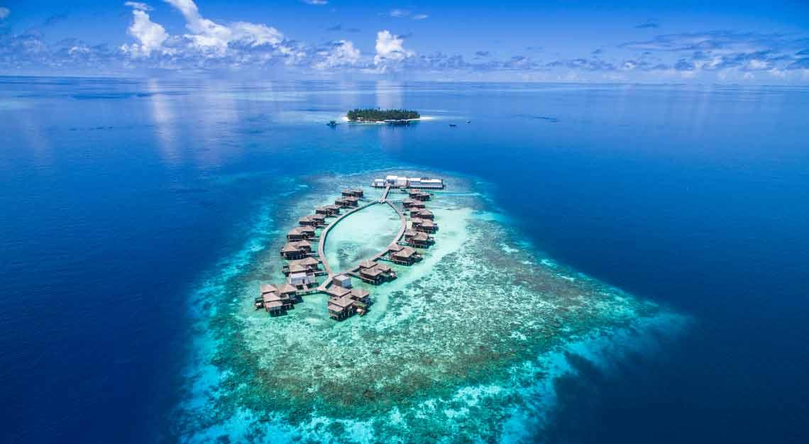 Raffles Maldives Meradhoo Aerial View