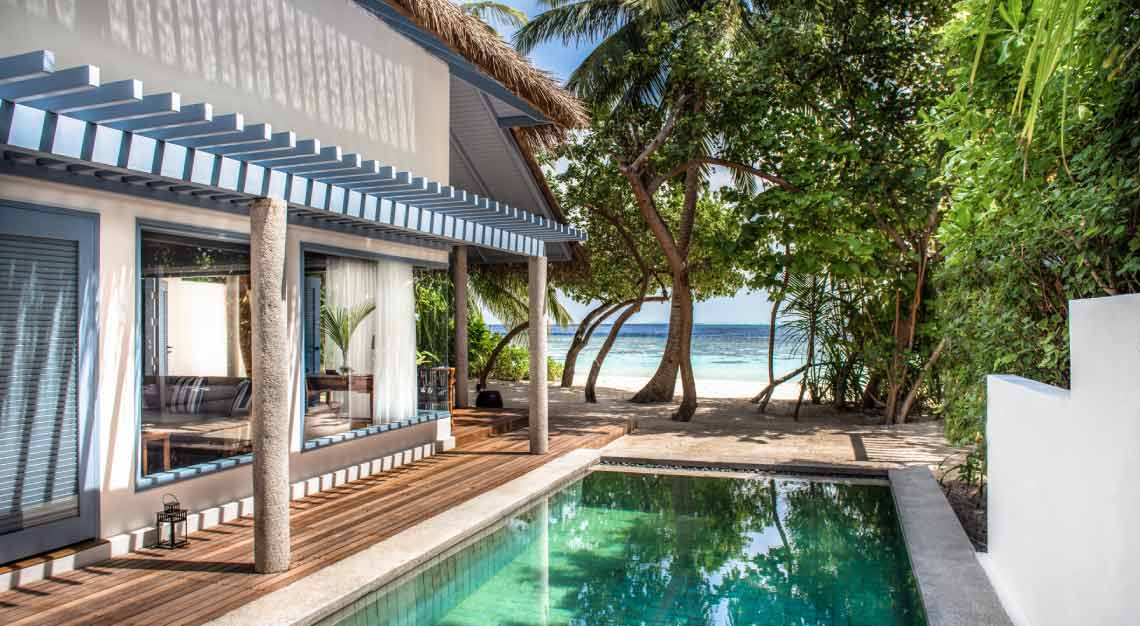Raffles Maldives Meradhoo Beach Villa Pool