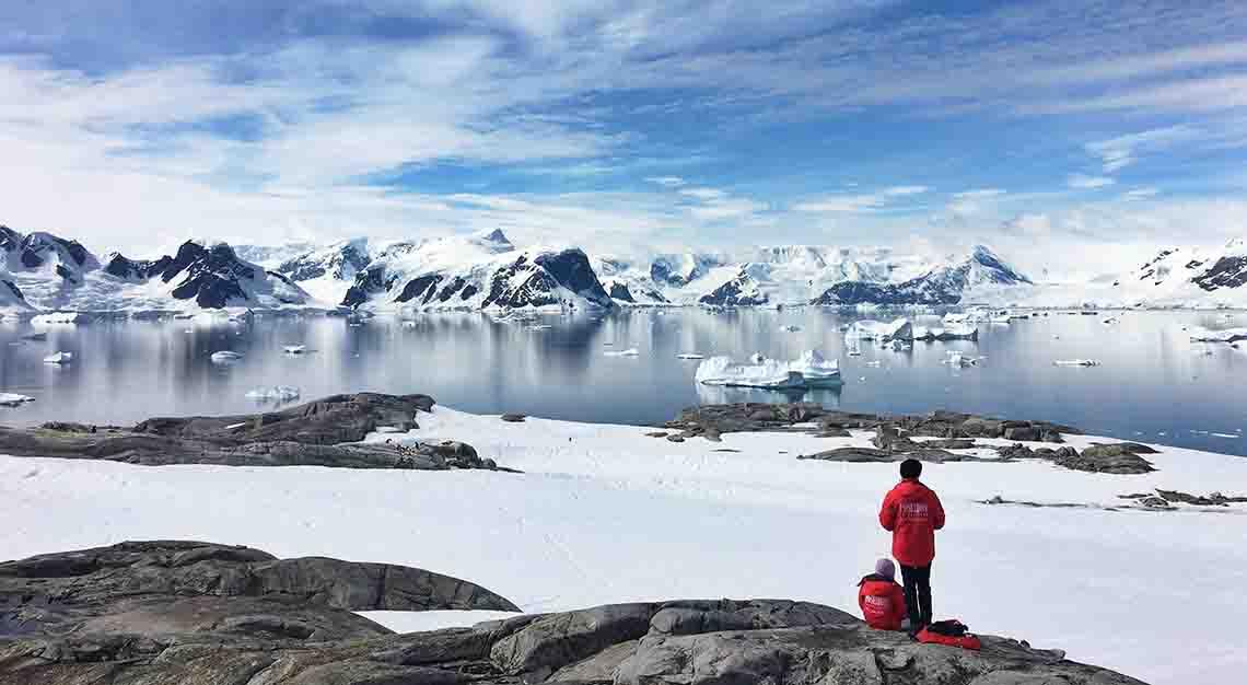 skiing in Antarctica