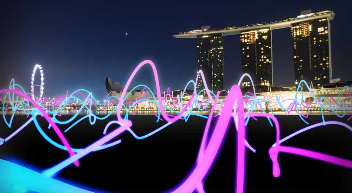 i Light Singapore 2019 - Squiggle