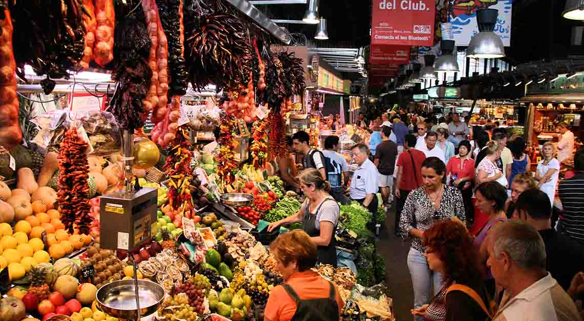 Best food markets around the world - La Boqueria - Spain