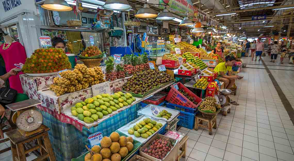 Best food markets around the world - Or Tor Kor Market - Thailand