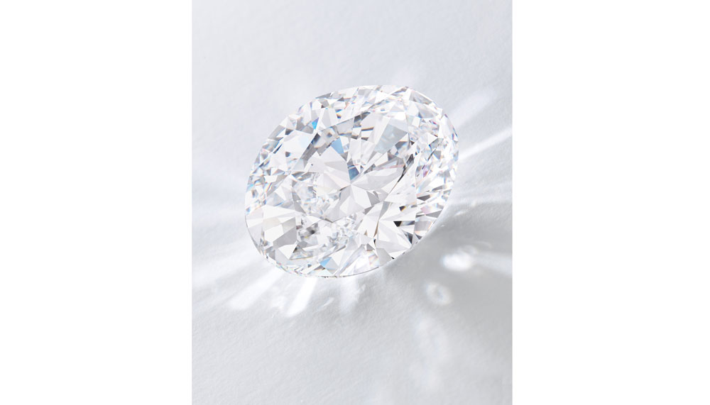Sotheby's Auctions - largest oval diamond