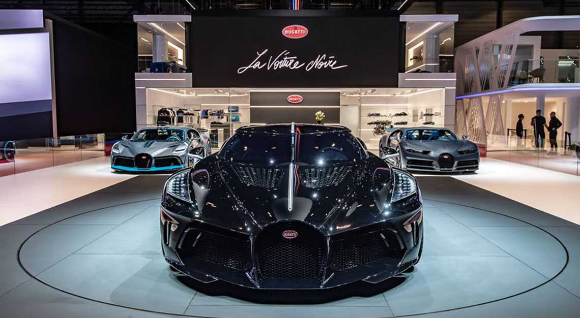 world's most expensive car: bugatti's bespoke la voiture noire