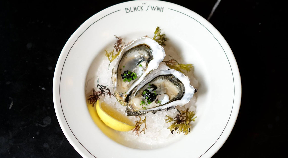 Best restaurants for oysters in Singapore - The Black Swan