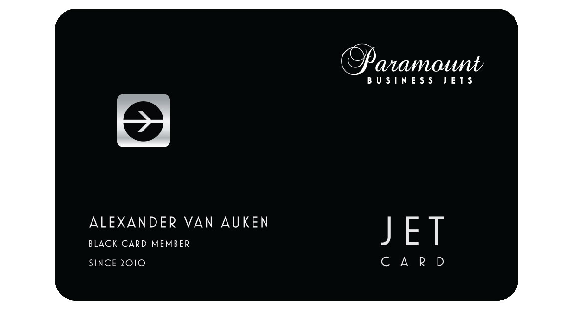 Jet card memberships - Paramount Black Card