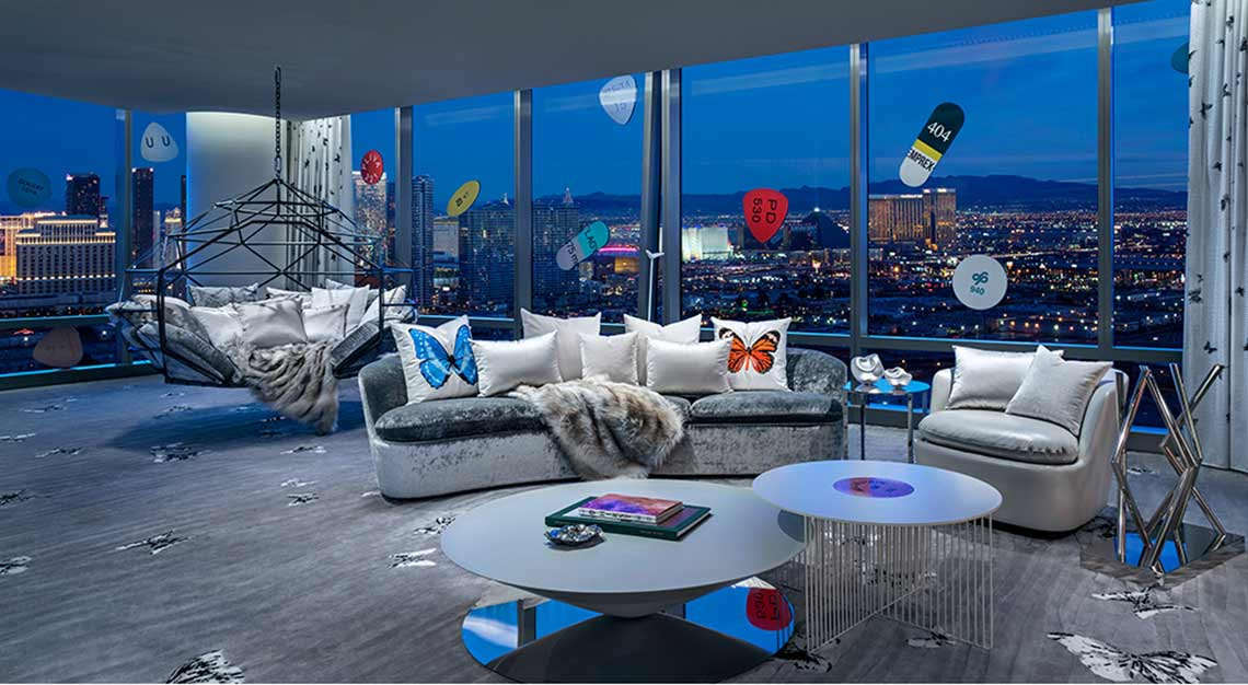 Most expensive hotel suite - Empathy Suite by Damien Hirst, The Palms Casino Las Vegas