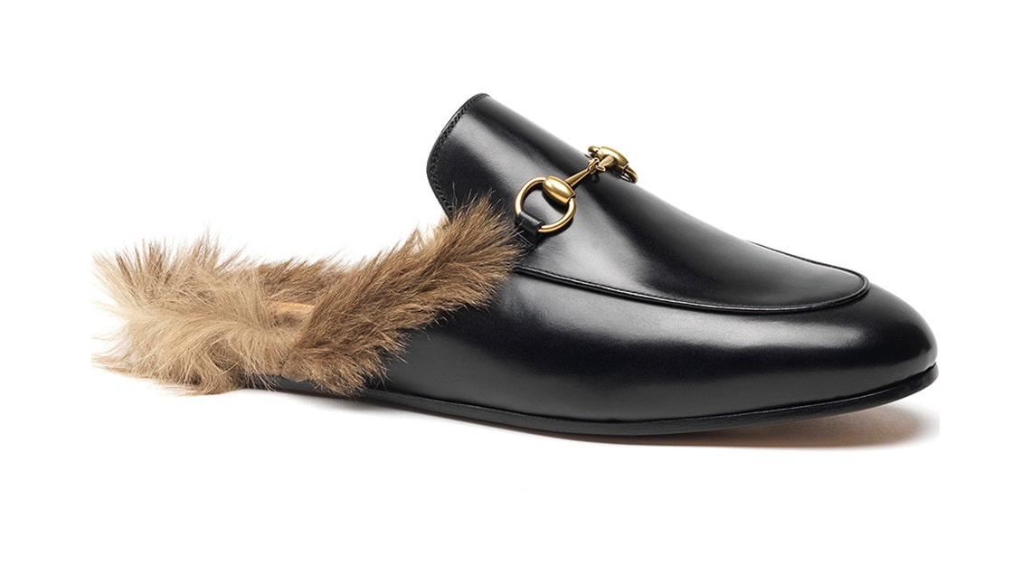 Crazy fashion trends - Gucci Princeton Fur Lined Slippers