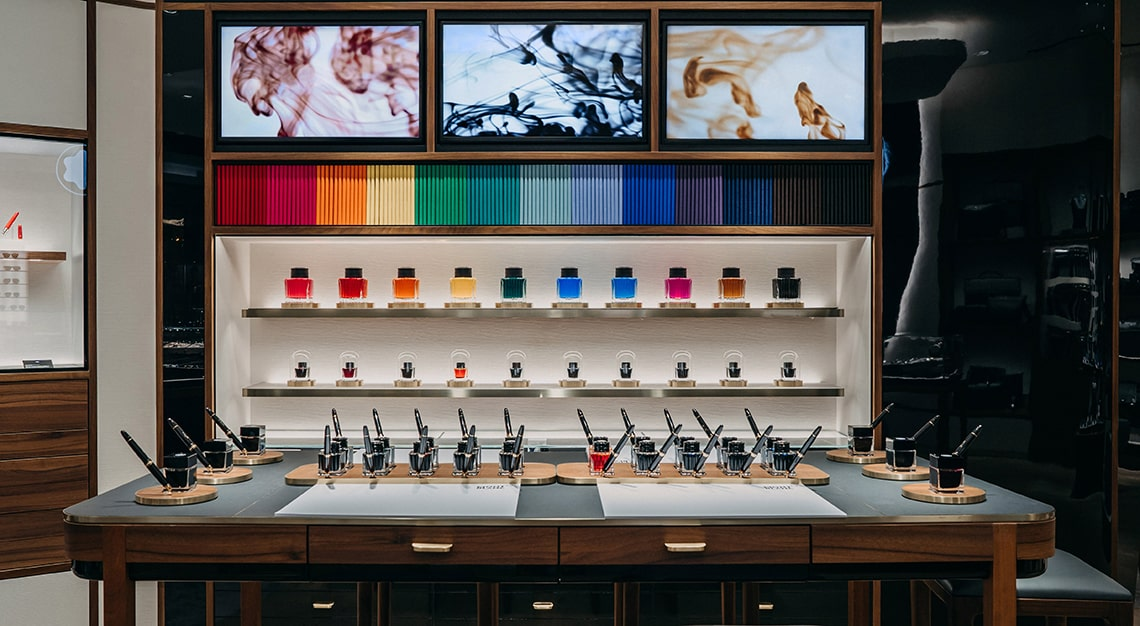Montblanc, The Shoppes at Marina Bay Sands, ink bar