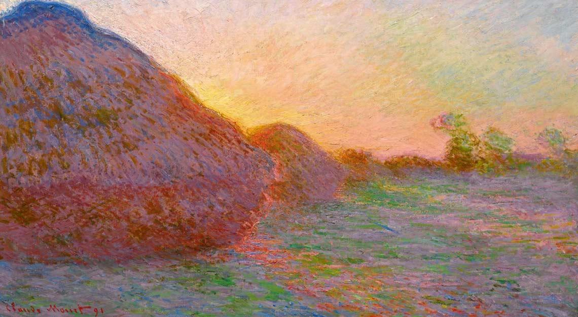 Claude Monet, Haystacks, New York Auction