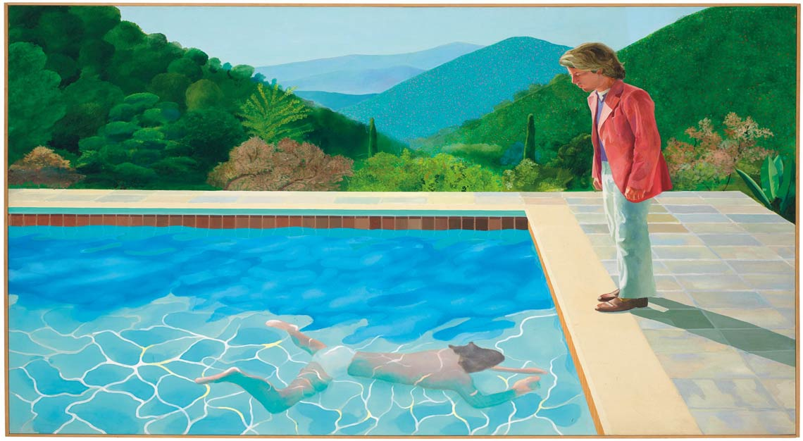 David Hockney, Portrait of an Artist (Pool with Two Figures), Christie's Auction
