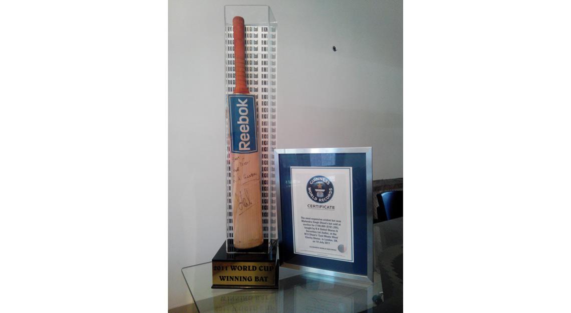 world's most expensive cricket memorabilia