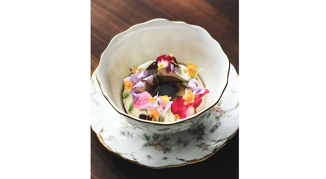 Salted Hokkaido milk ice cream, Restaurant Zen Singapore