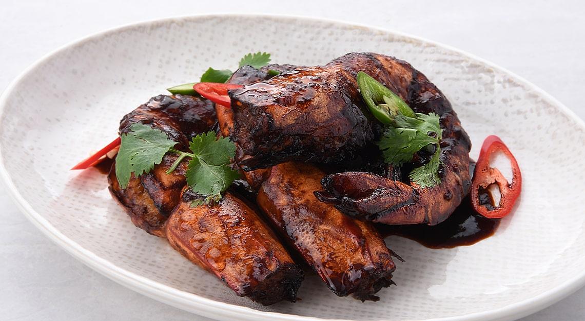 Indigo Blue Kitchen Pan-Fried Assam King Prawns