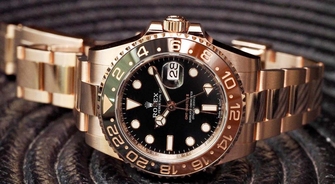 "Rolex's GMT-Master II ""Root Beer"" in Everose"