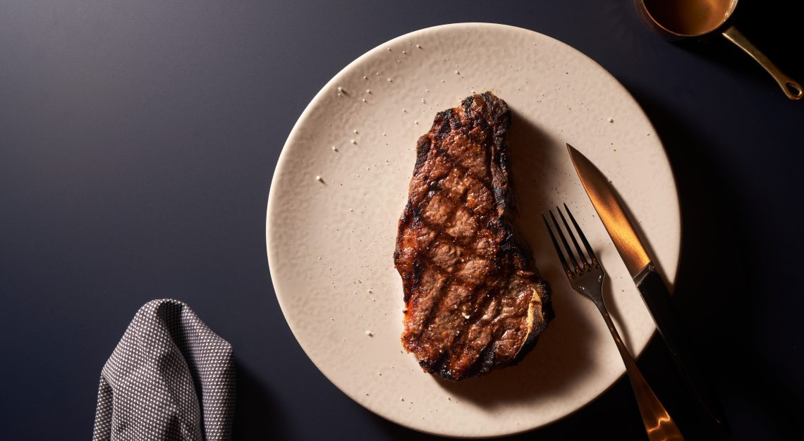 Bone-in Sirloin Club Steak butcher's block raffles hotel