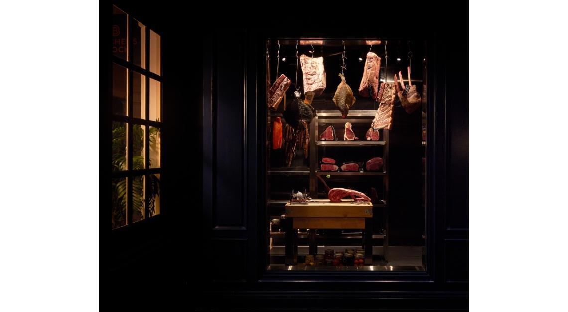 Meat Vault butcher's block raffles hotel