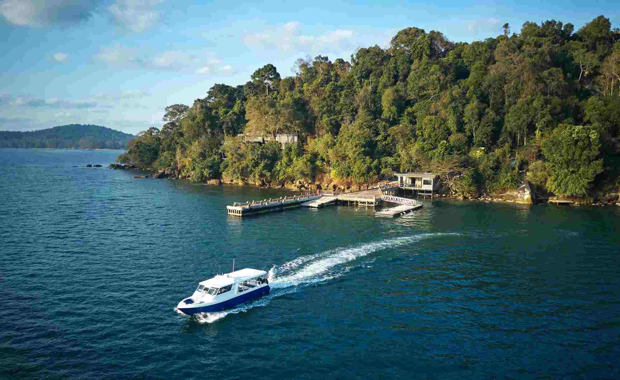 Six Senses Krabey Island's main jetty
