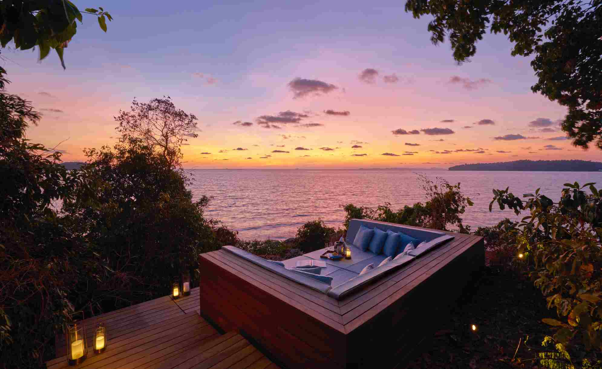 The private sundeck at an Ocean Pool Villa, Six Senses Krabey Island