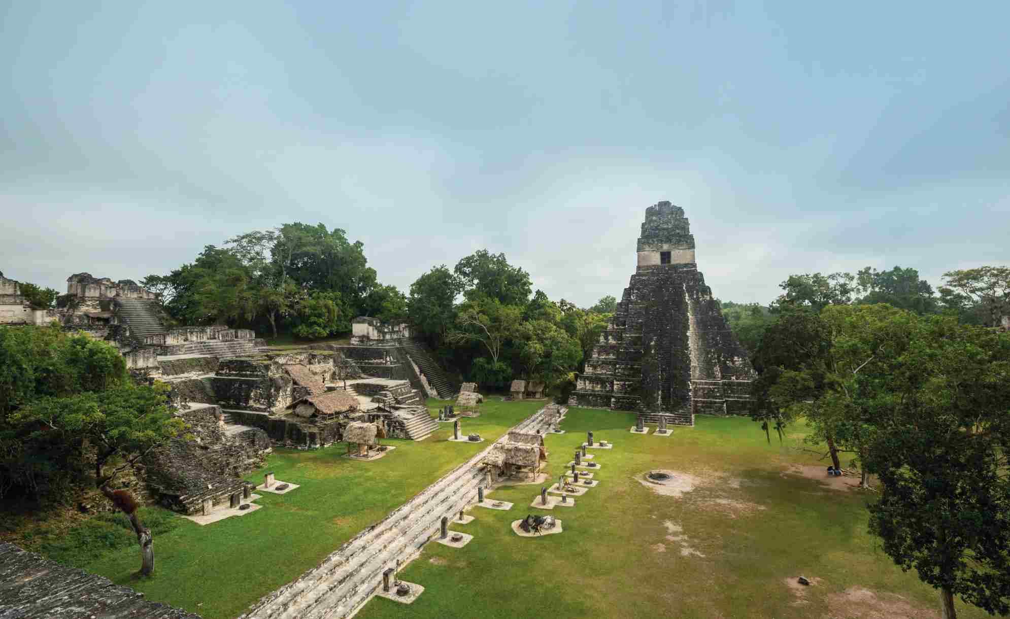 Mayan Pyramids in Tikal, Guatemala