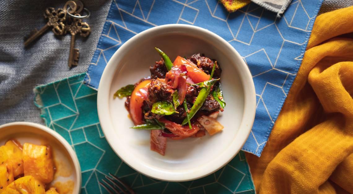 Sri Lankan Style Devilled Chicken
