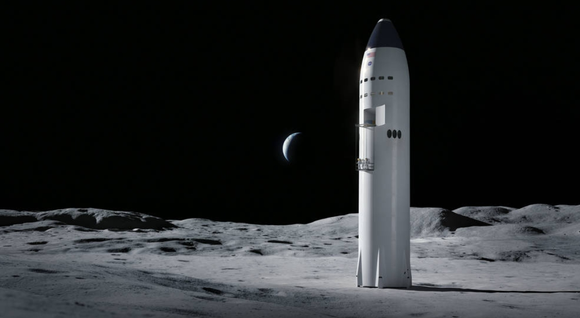 SpaceX's Starship, a lunar landing vehicle for exploration in 2024