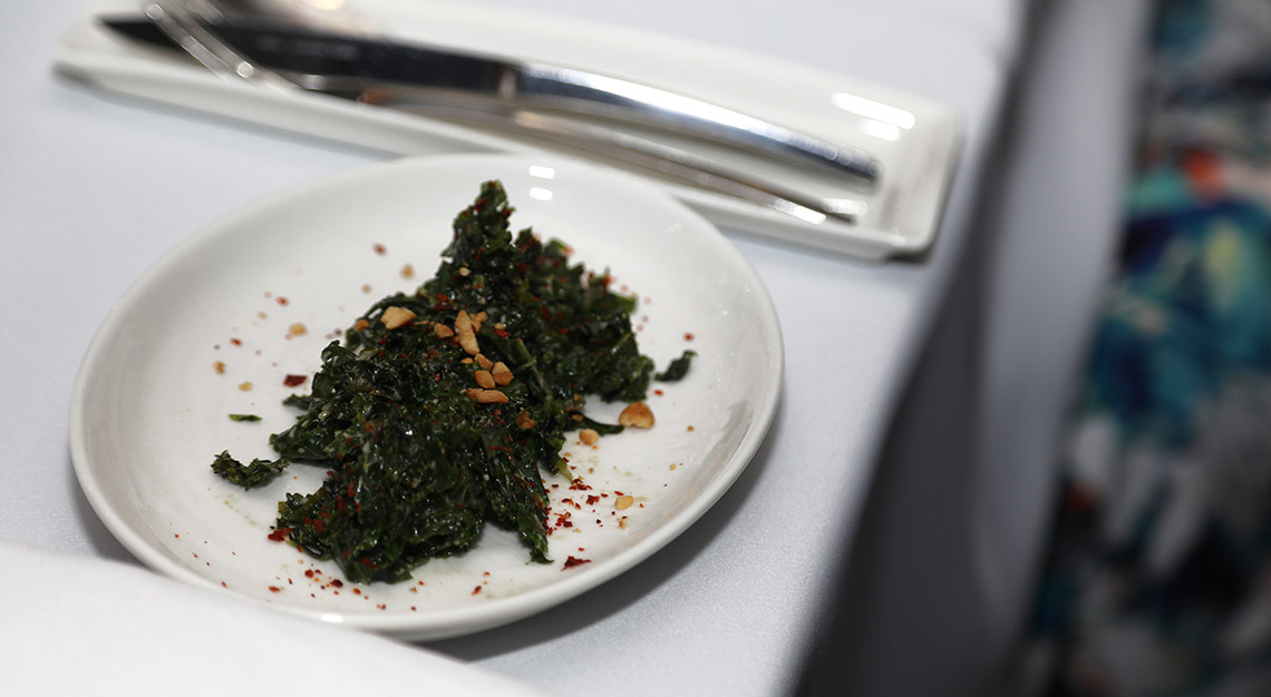 Coriander leaf, kale salad