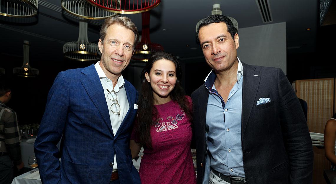Michael von Schlippe, president of Indochine Media with Regina Zhiyenkulova and Rajeev Panjwani, CEO of Coriander Leaf Group