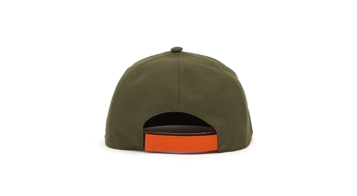 Fendi suede and canvas baseball cap