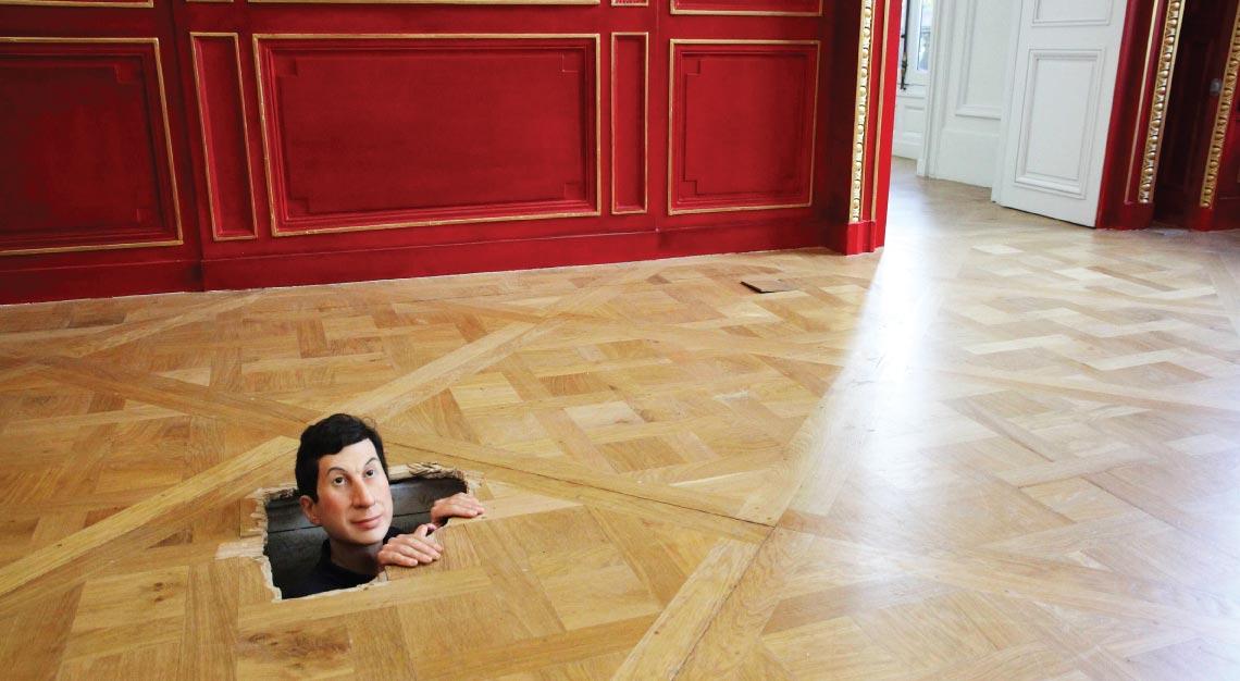 Maurizio Cattelan man-in-floor
