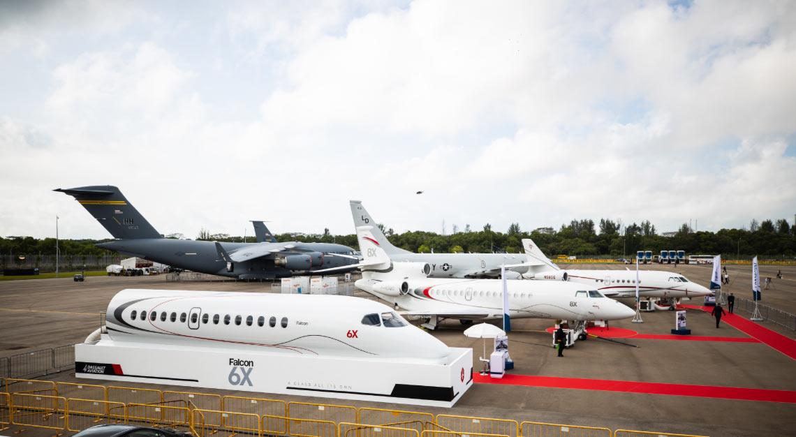 Dassault Showcase Singapore Airshow