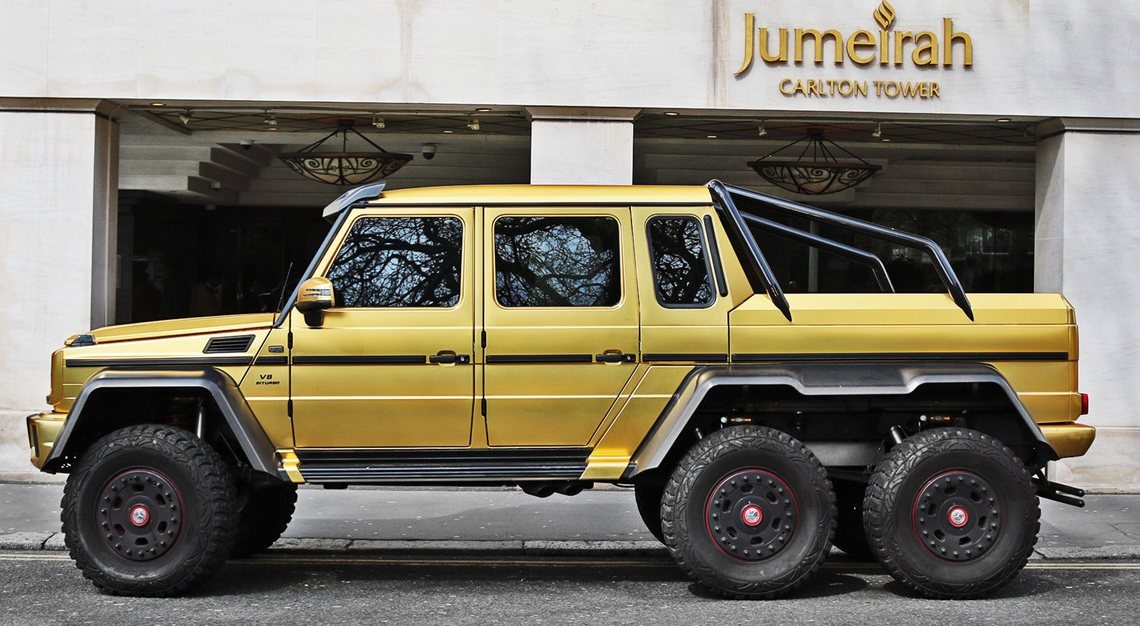 Mercedes-Benz G63 AMG 6X6 plated in gold