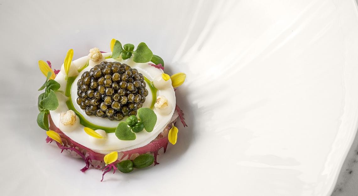 saint pierre caviar royal belgian osetra caviar hokkaido scallop buttermilk