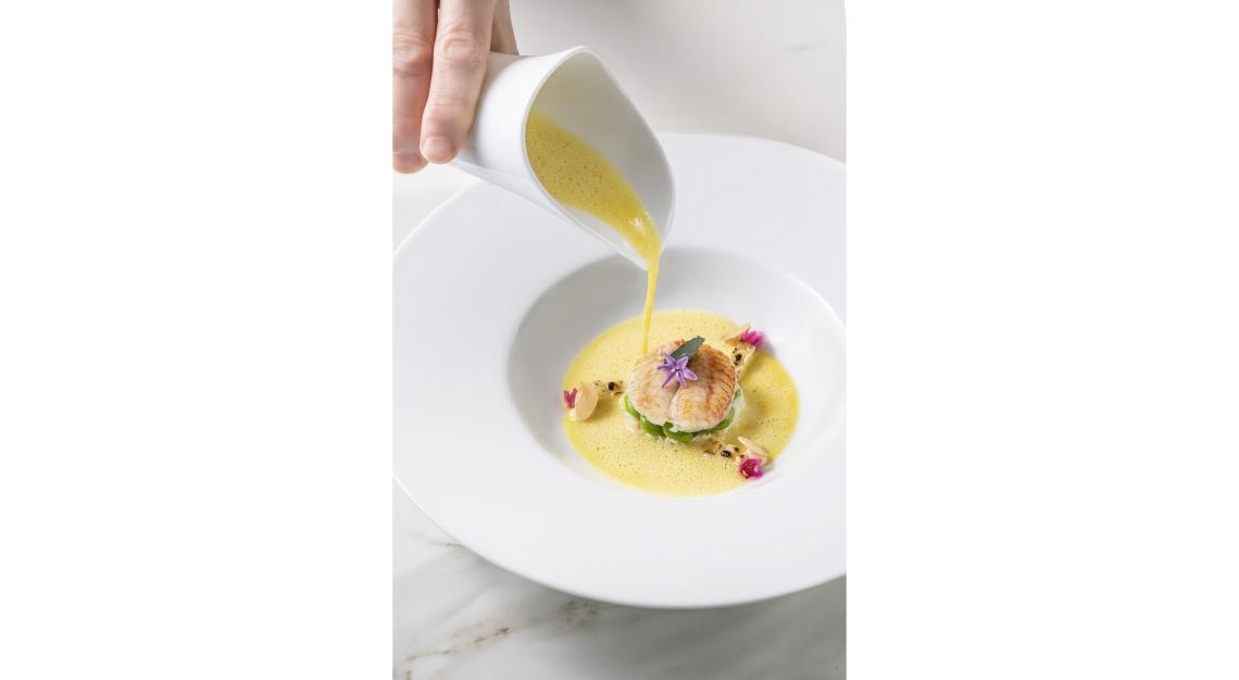 Saint Pierre Crab - Hokkaido Hairy Crab, White Corn, Almond