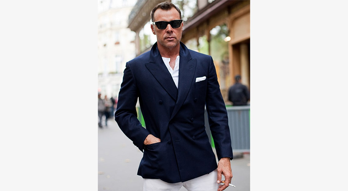 Sartorialist (Casual double-breasted blazers)