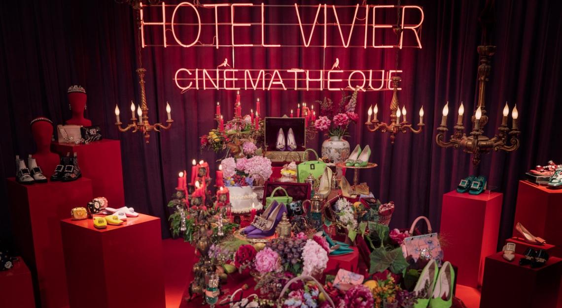 paris fashion week Roger Vivier hotel Vivier Cinémathèqe