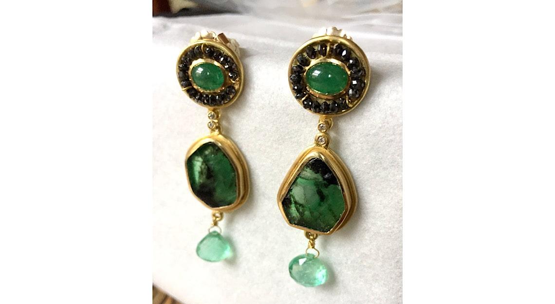 Taryn Leavitt Emerald Earrings