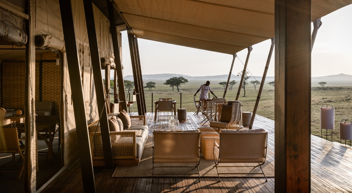 Singita Sabora Main Lodge Lounge on Deck