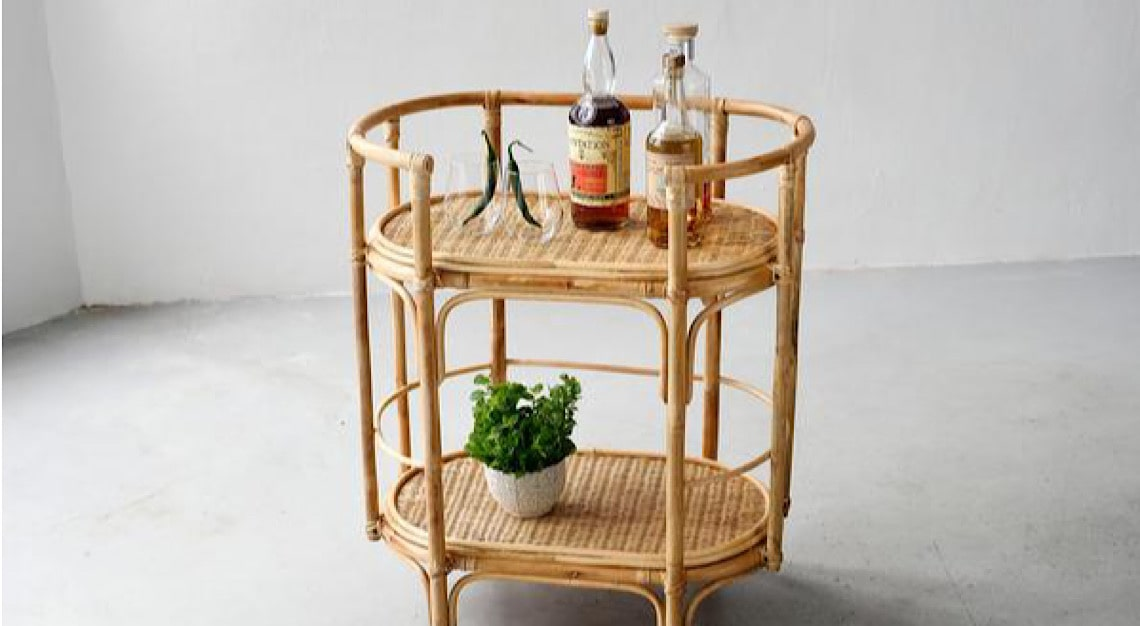 Island Living Bungalow Bar Cart