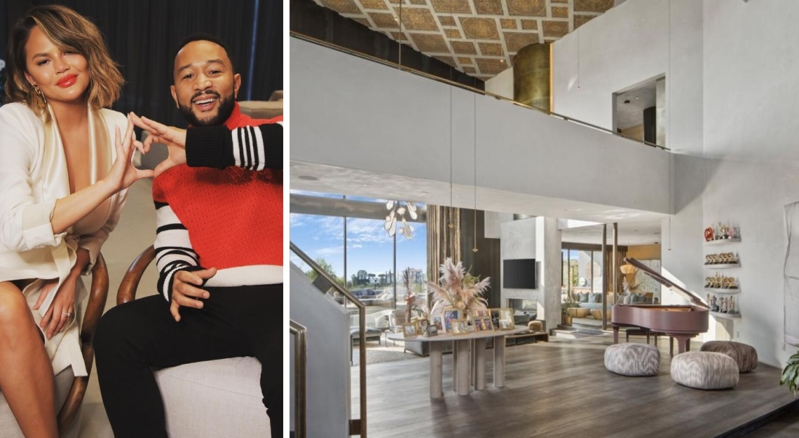 John Legend Chrissy Teigen home