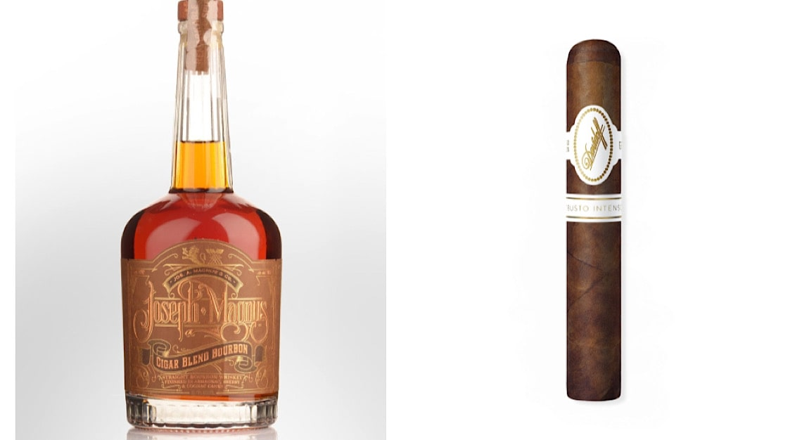 Joseph Magnus Cigar Blend Bourbon + Davidoff Robusto Intenso