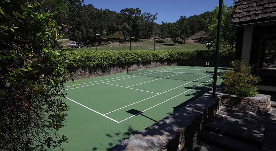 Neverland Ranch Tennis Court