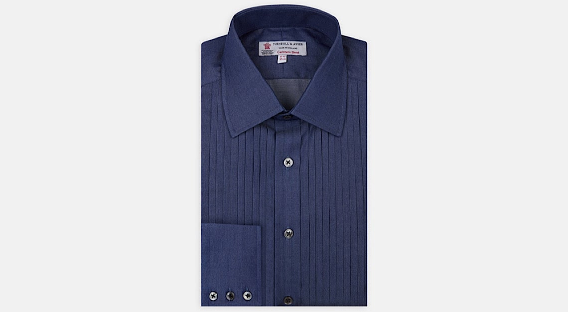 Turnbull & Asser Denim-Cashmere Dress Shirt