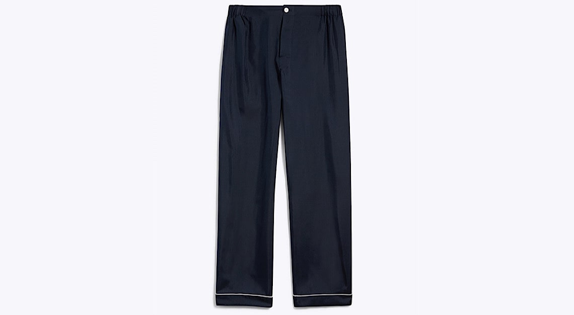 "Sleepy Jones ""Marcel"" Silk Pajama Pant"