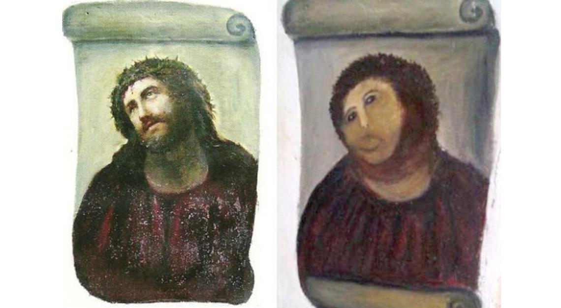 Elías García Martínez'sEcce Homo, art restoration fail
